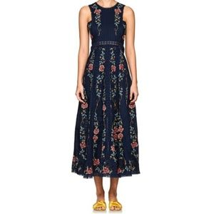ZIMMERMANN Embroidered Cross Stitch Floral Dress